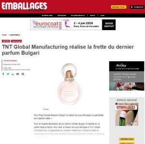 TNT Global Manufacturing réalise la frette du dernier parfum de Bulgari