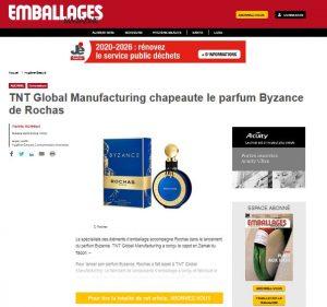 TNT Global Manufacturing chapeaute le parfum Byzance de Rochas