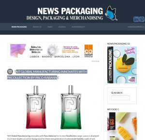 TNT Global Manufacturing innovates with Pacollection by Paco Rabanne
