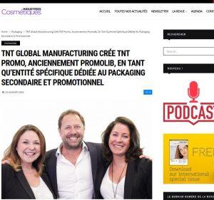 TNT Global Manufacturing crée TNT Promo